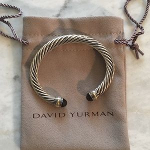 David Yurman SmokeyQuartz cable bracelet-Like new